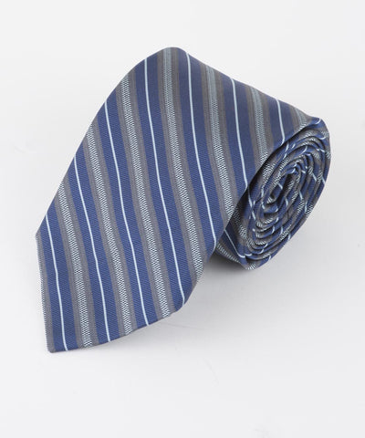 Blue Thin Multi Stripe  <br />   * made in Italy  *