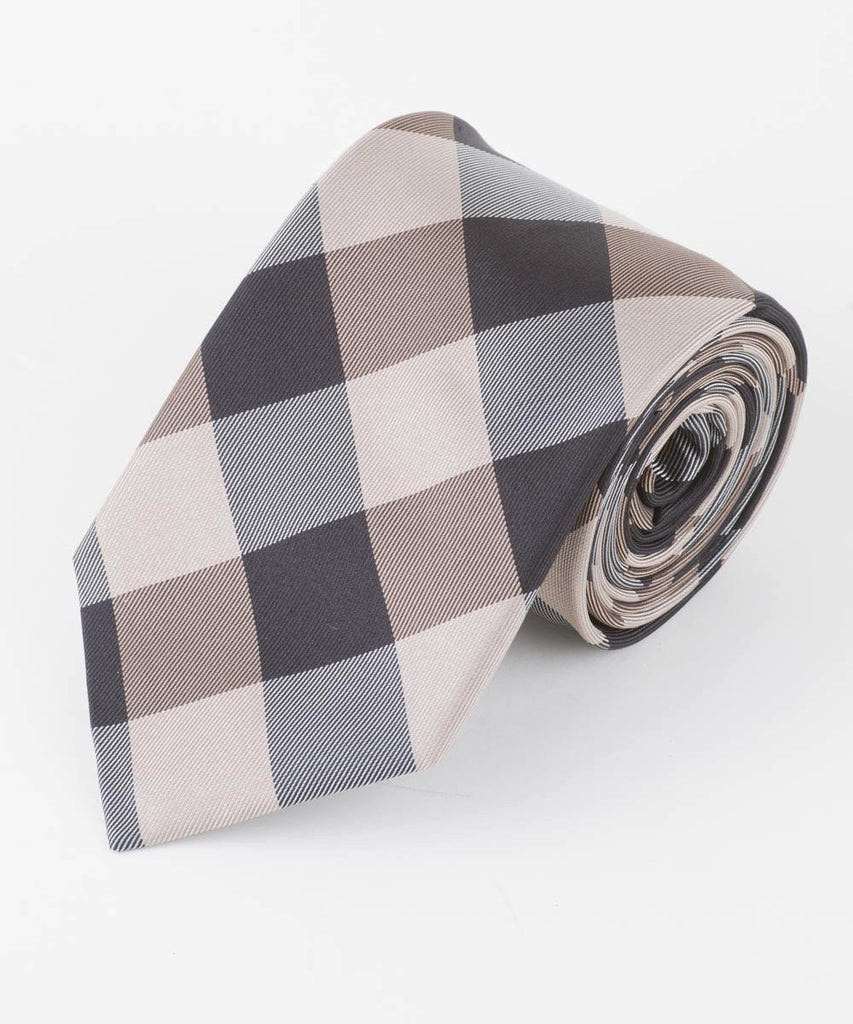 Taupe Large Buffalo Check