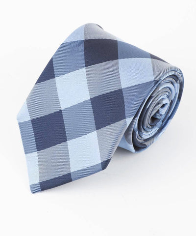 Blue Large Buffalo Check Tie