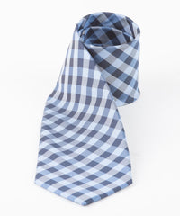 Blue Small Check Tie