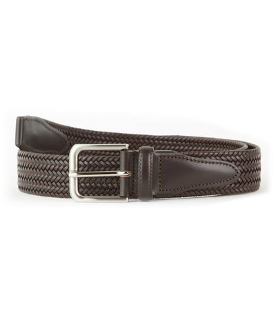Wilkes & Riley Treccia Brown Leather Braided Belt