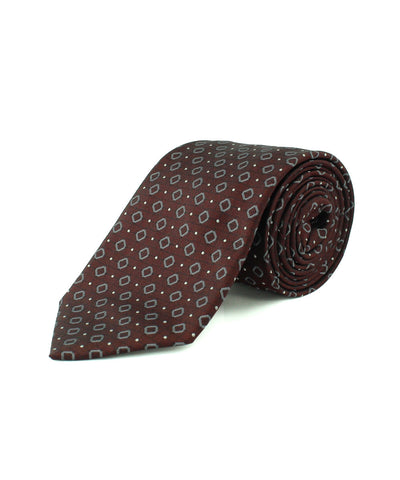 Burgundy Diamond Neat Tie