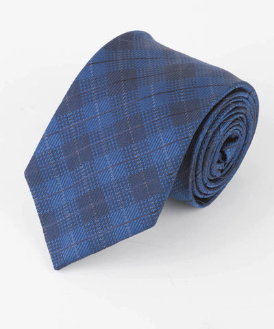 Blue Diamond Plaid Tie