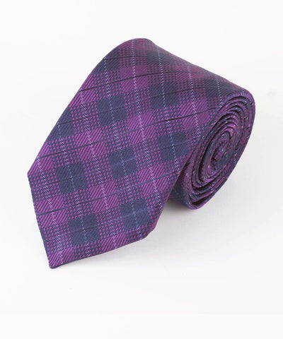 Purple Diamond Plaid  <br />   * made in Italy  *