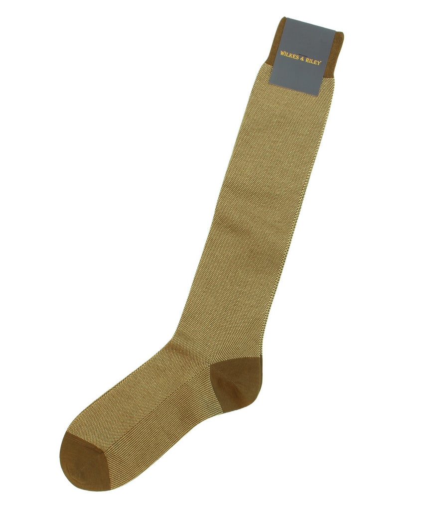 Tan Bird&#39;s Eye Cotton Blend Socks - Over the Calf   * made in Italy  *>VIEW FULL SIZE IMAGE</a>                                                                                                         <div id=