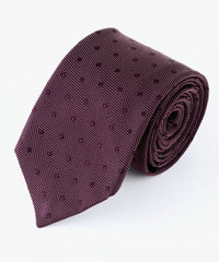 Burgundy Textured Dots  <br />   * made in Italy  *