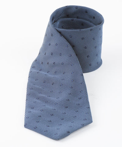 Blue Textured Dots  <br />   * made in Italy  *