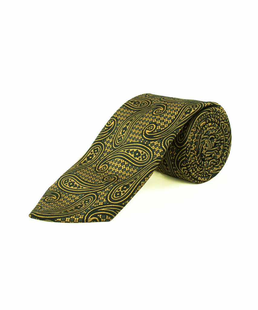Gold/Navy Large Paisley
