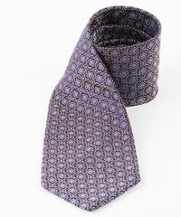 Brown Square Geometric Tie
