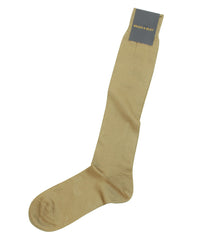 Tan Cotton Lisle - Over The Calf