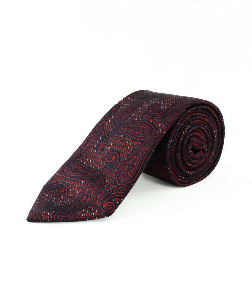 Red/Navy Large Paisley
