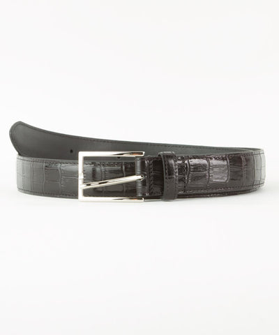 Wilkes & Riley Black Embossed Aligator Belt
