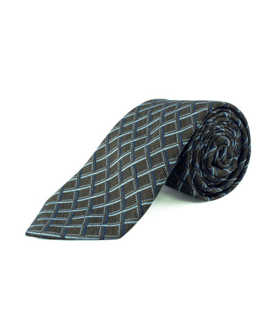 Brown Multi Basketweave Tie