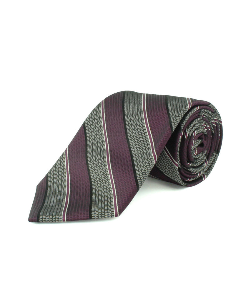 Purple Satin Textured Stripe