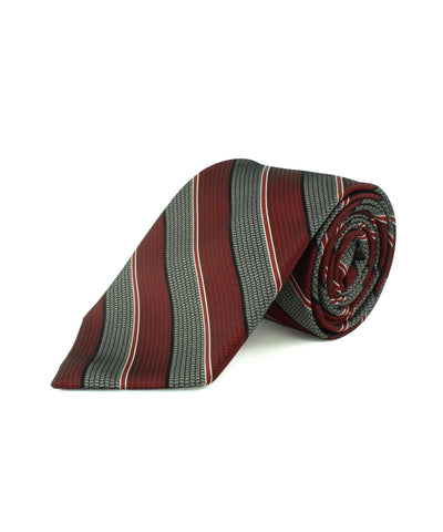 Red Satin Textured Stripe  <br />   * made in Italy  *