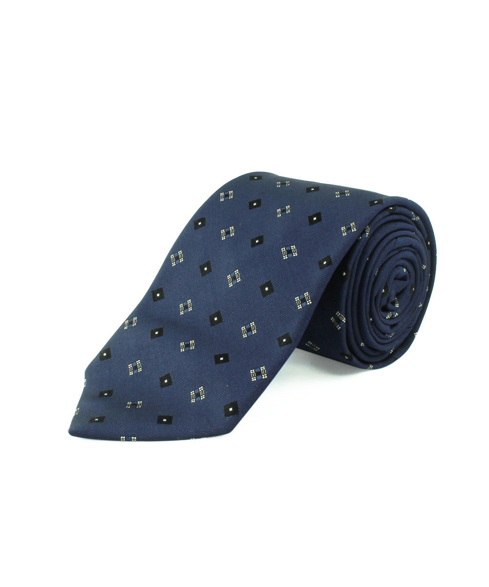 Blue Spaced Diamond Neat Tie
