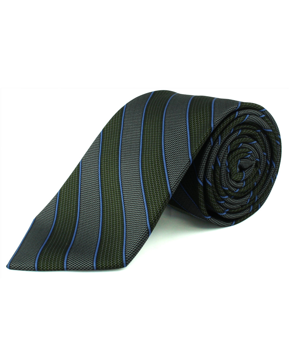 Green Alternating Stripe Tie