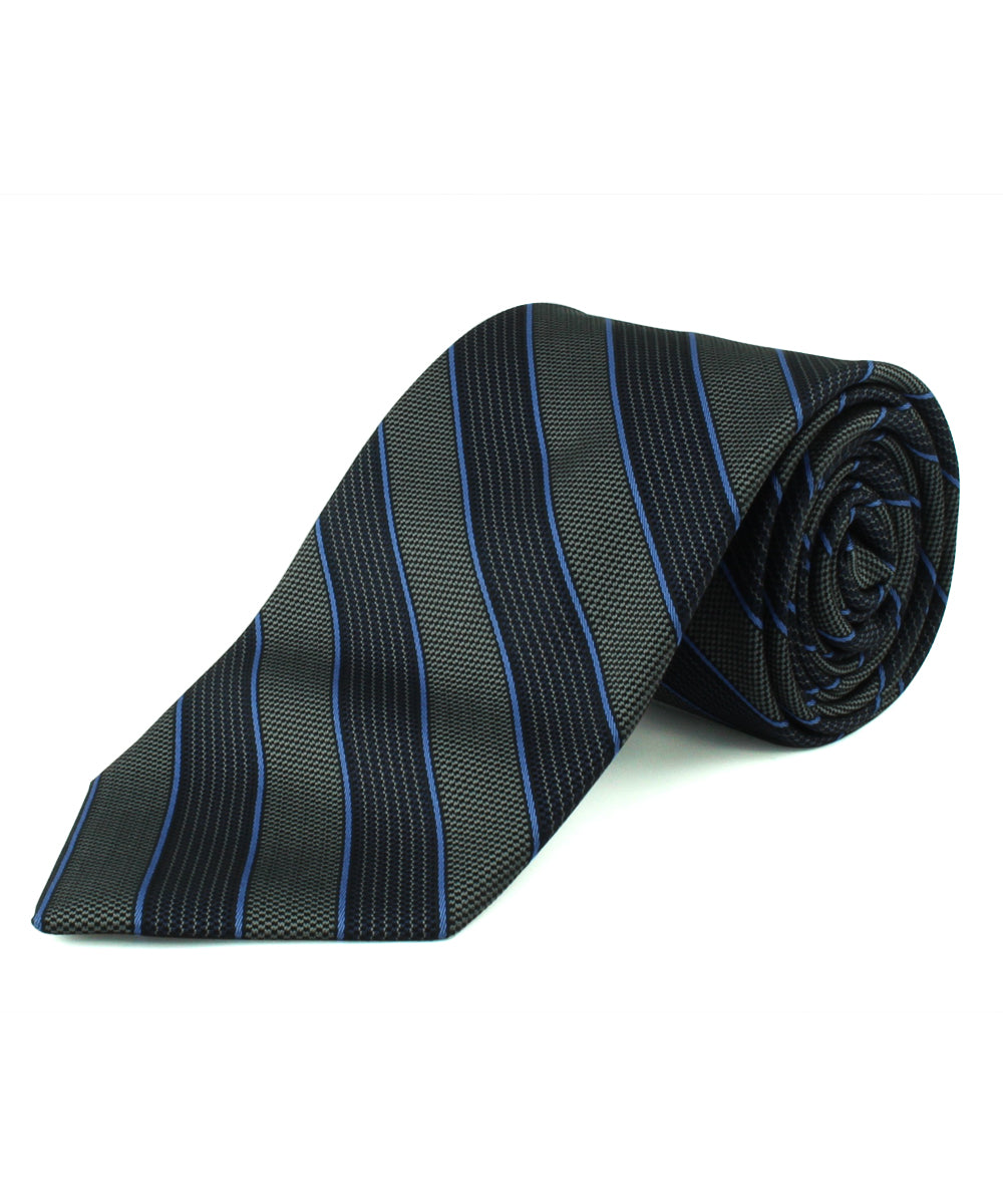 Purple Alternating Stripe Tie