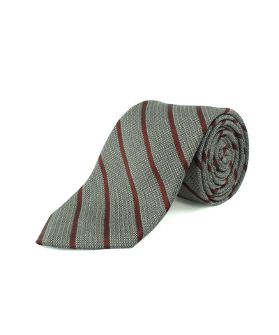 Burgundy Textured Thin Stripe  <br />   * made in Italy  *
