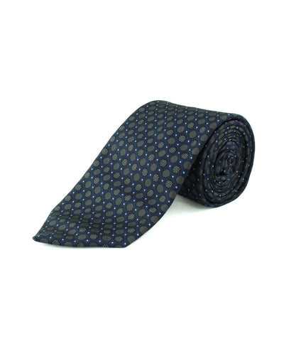 Blue Circle Box Neat Tie