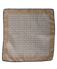 Wilkes & Riley Hand-Rolled Pocket Square - Gold Foulard