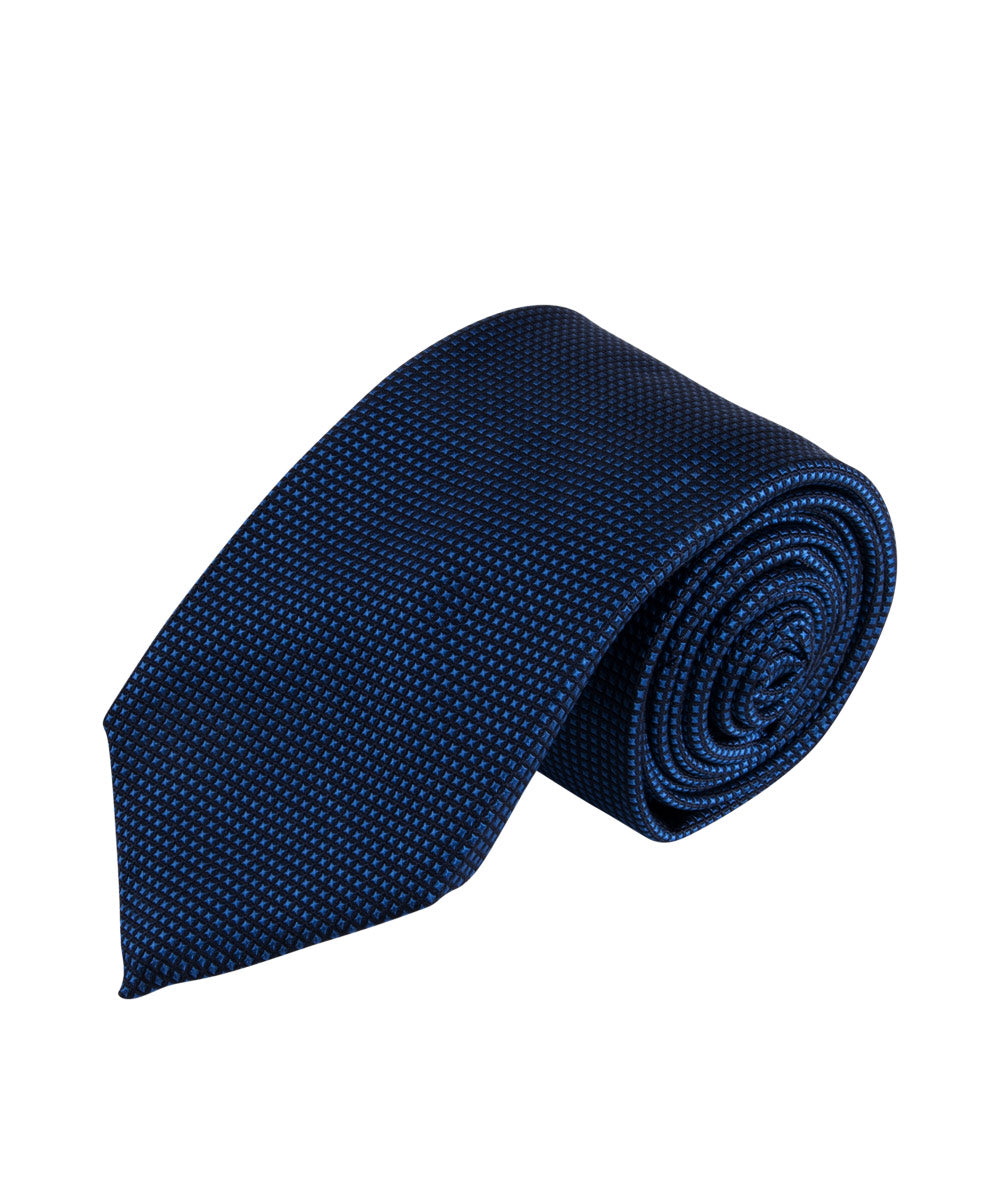 Blue Textured Solid Tie
