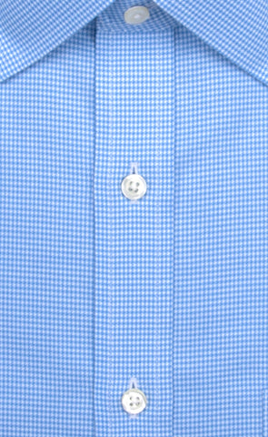 Wilkes & Riley Blue Houndstooth Spread Collar Alt