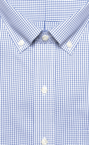 Wilkes & Riley Blue Pinpoint Check Button Down Alt