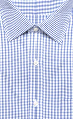 Wilkes & Riley Blue Pinpoint Check Spread Collar Alt