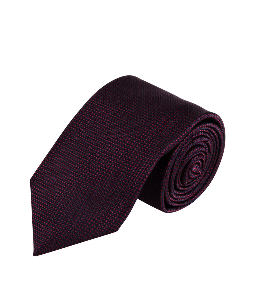 Burgundy Textured Solid Tie