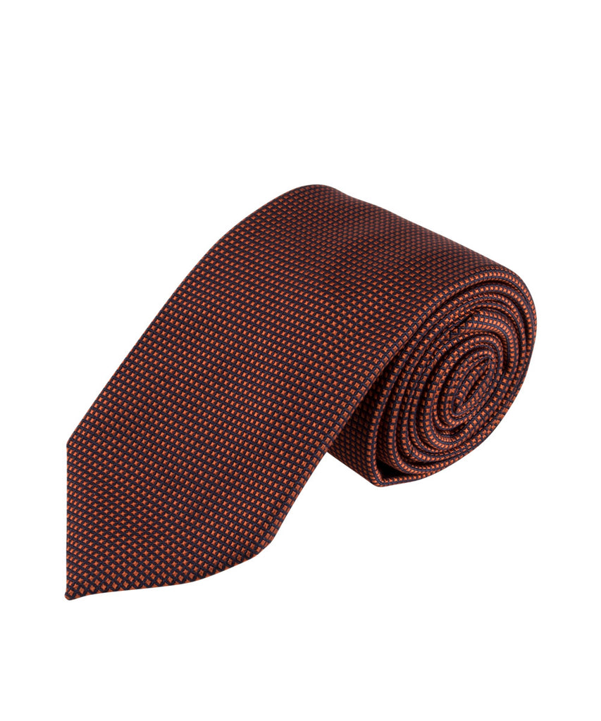 Copper Textured Solid Tie (Long)