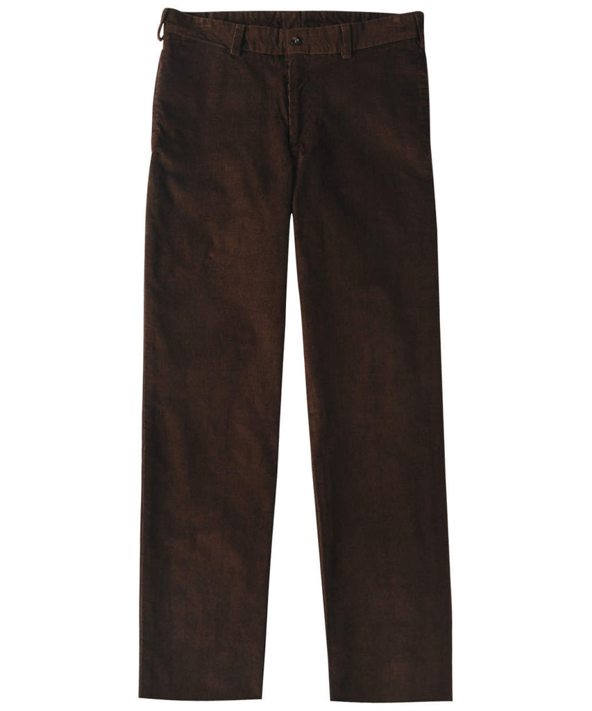 Corduroy Trousers from Bills Khakis - Classic Fit Plain Front (Espresso)