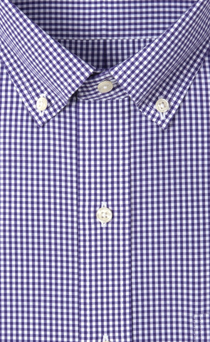 Wilkes & Riley Grape Gingham Button Down Alt