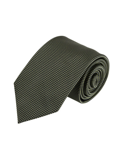 Green Textured Solid Tie (Long)