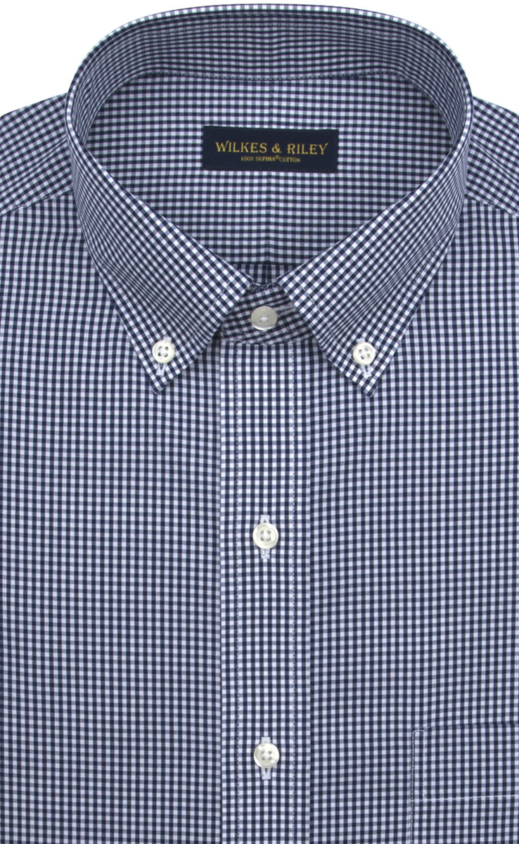 Wilkes & Riley Navy Gingham Button Down