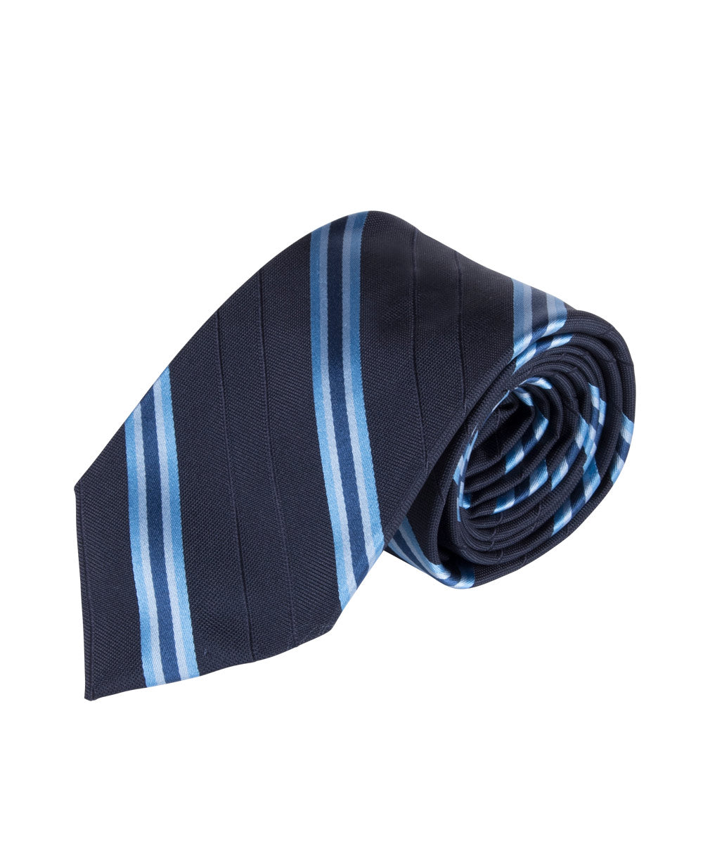 Navy & Lt Blue Stripe (Long)