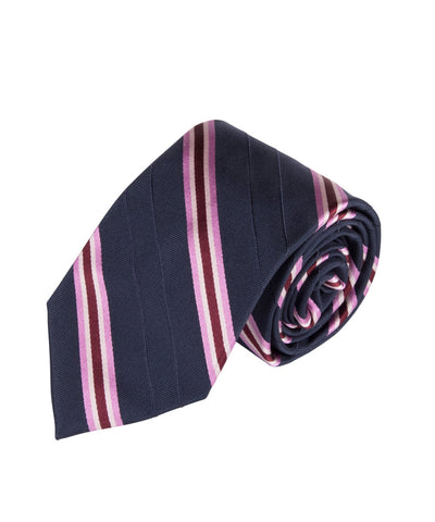 Navy & Pink Stripe (Long)