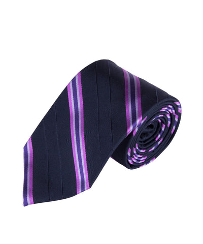 Navy & Violet Stripe (Long)