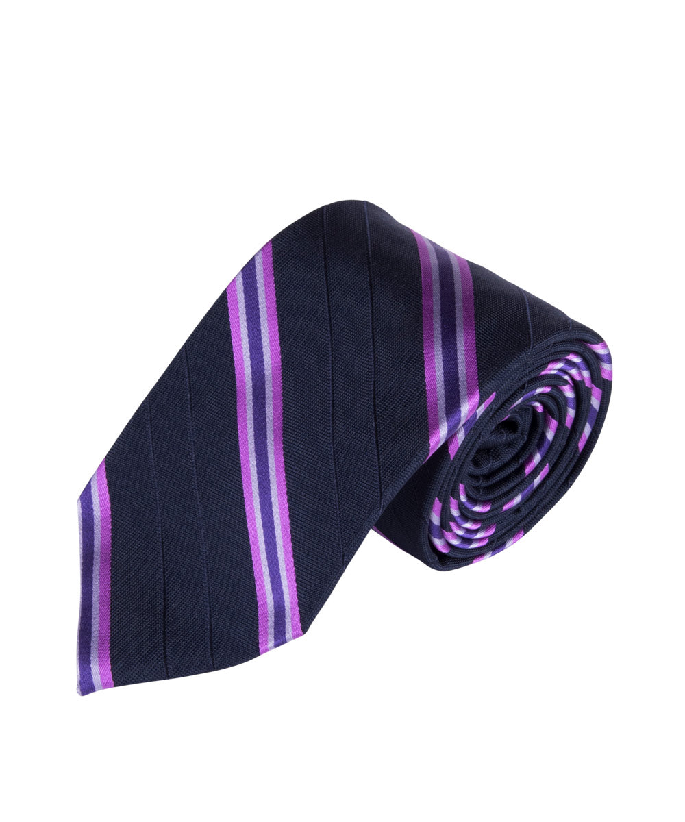 Navy & Violet Stripe