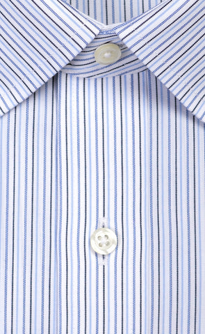 Wilkes & Riley Blue Multi Stripe Spread Collar Alt
