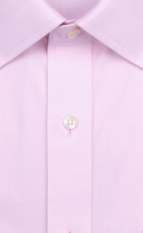Wilkes & Riley Pink Solid English Spread Collar Alt