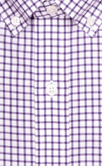 Wilkes & Riley Purple Twill Check Button Down Sport Shirt Alt