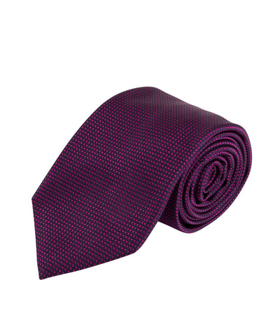 Raspberry Textured Solid Tie (Long)