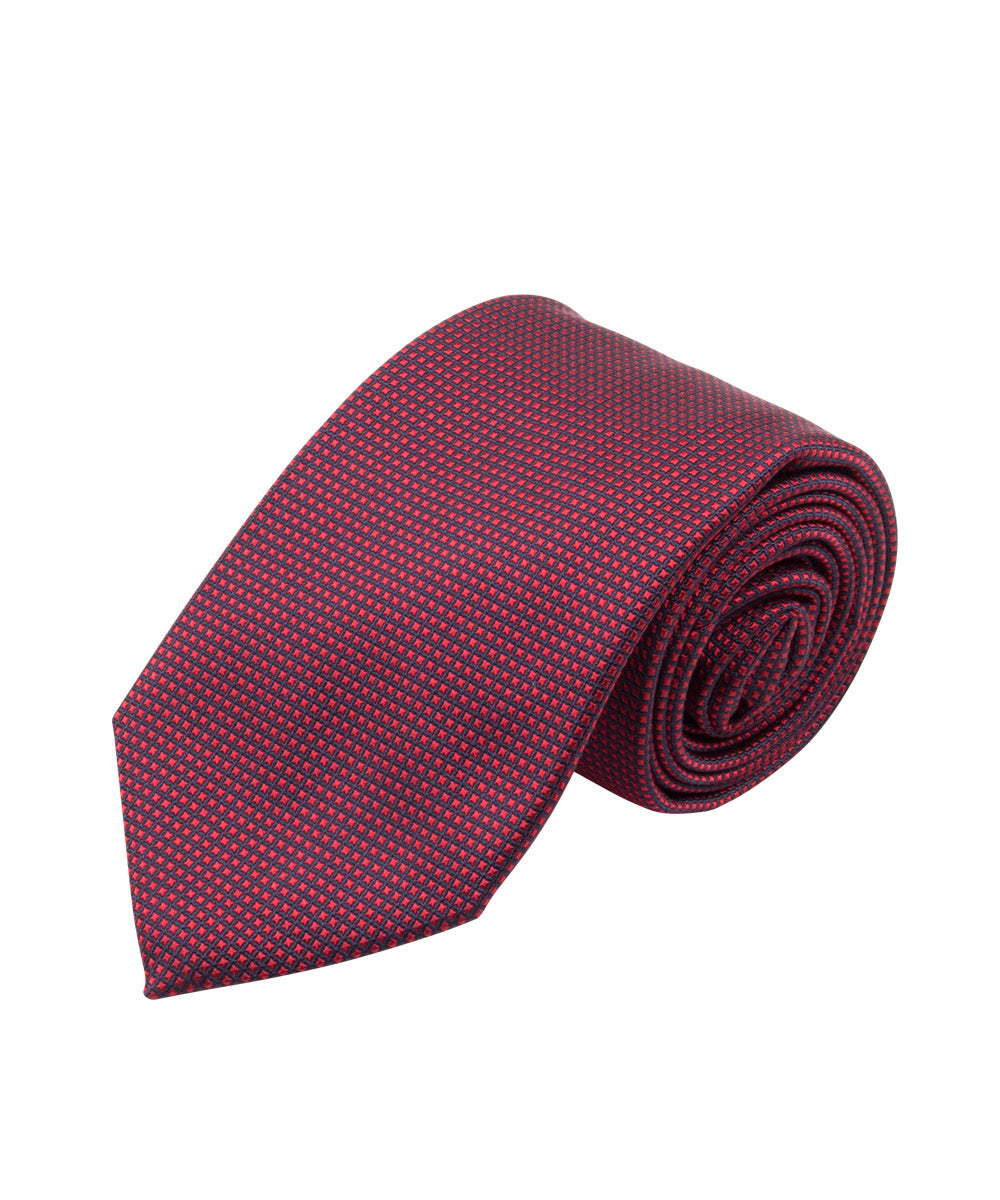 Red Textured Solid Tie (Long)