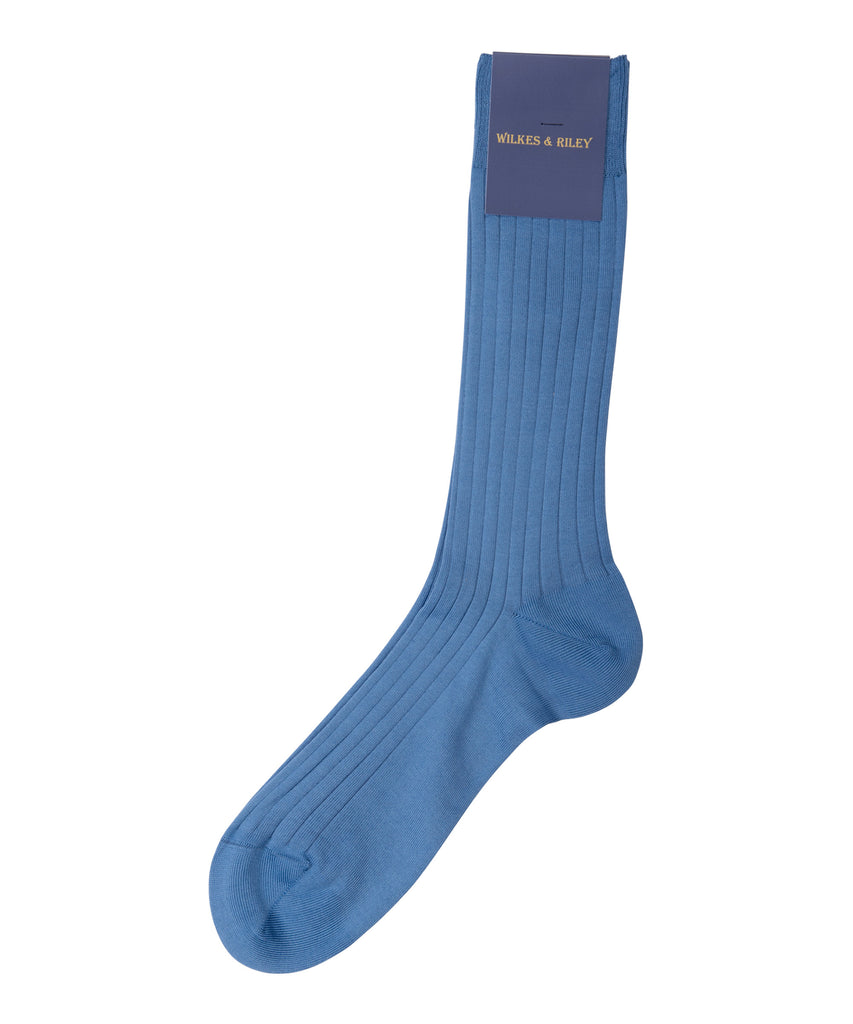Sky Blue Cotton Lisle - Mid Calf>VIEW FULL SIZE IMAGE</a>                                                                                                         <div id=