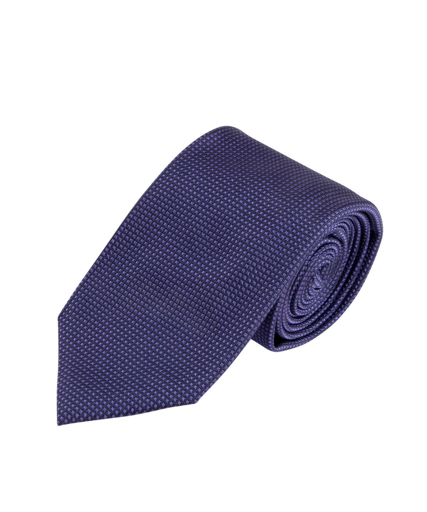 Violet Textured Solid Tie (Long)