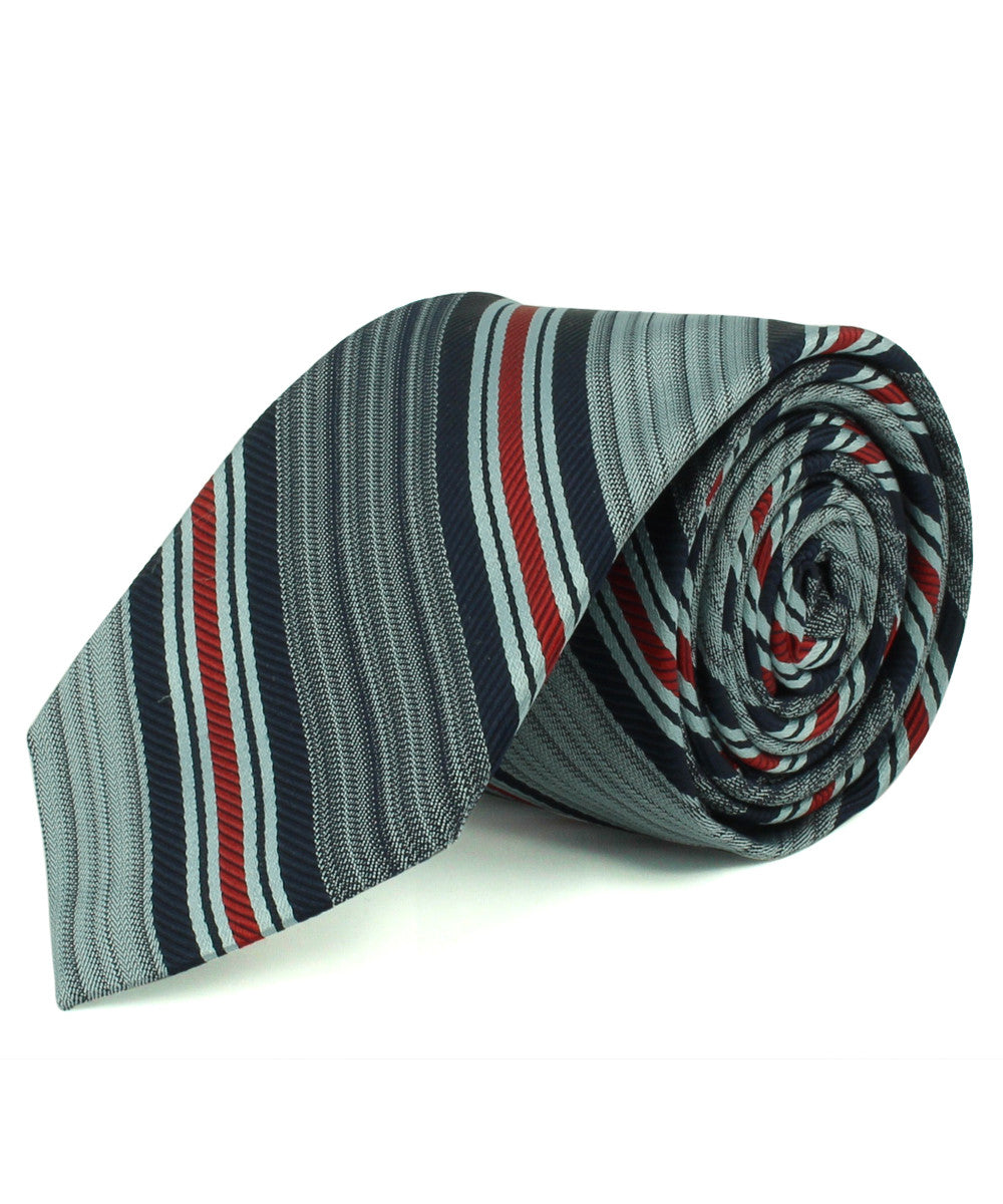 Navy/Red Corded Stripe