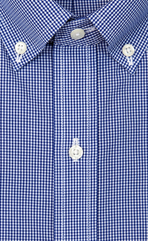 Wilkes & Riley Slim Fit Blue Gingham Button Down Alt