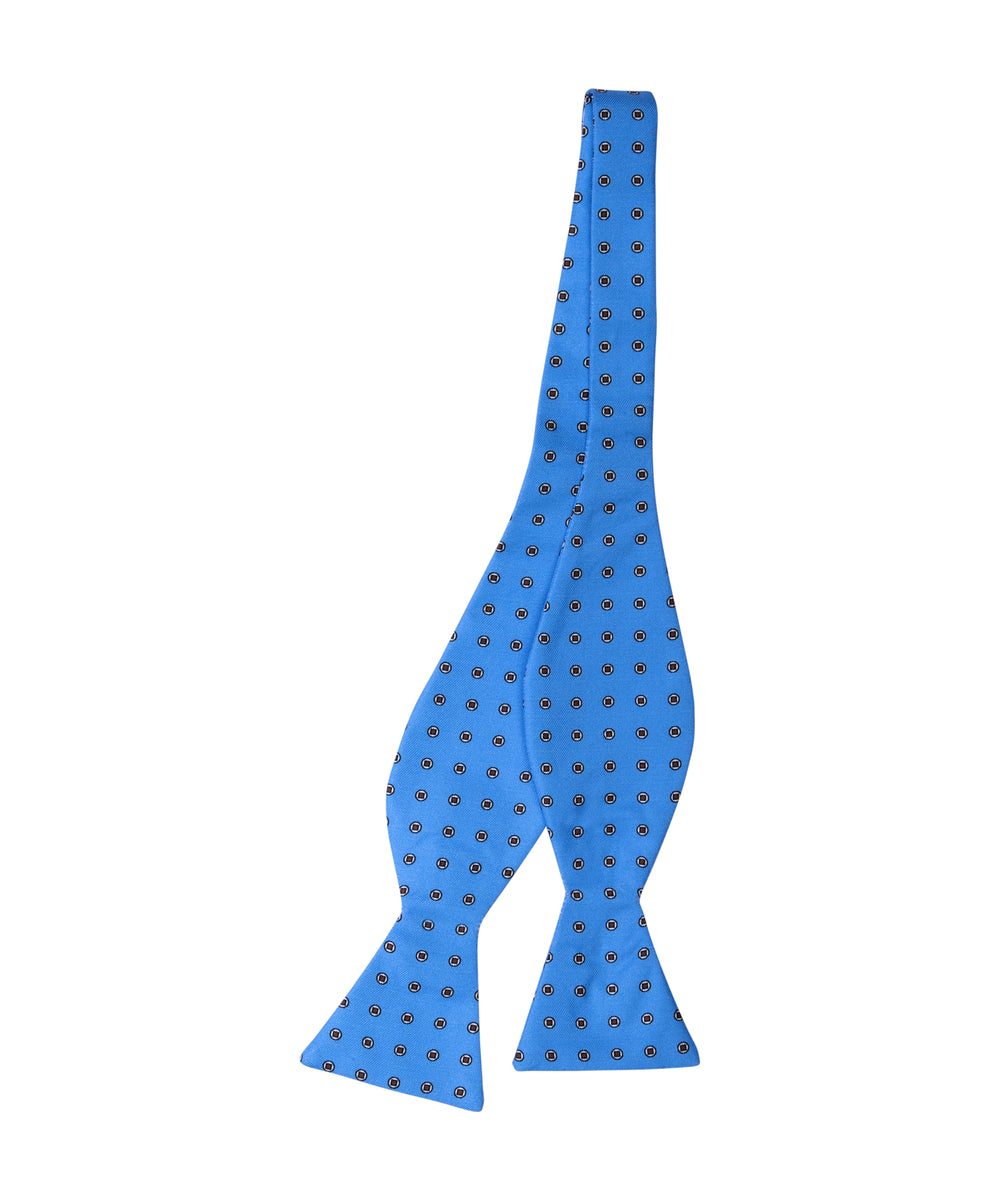 Blue Dot Self Bow Tie