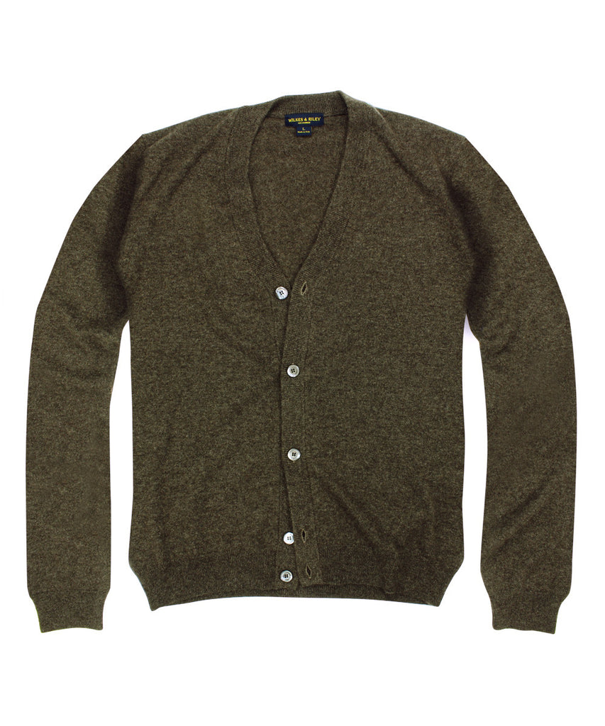 Wilkes &amp; Riley 100% Cashmere Cardigan Sweater W/ Loro Piana Yarn - Brown>VIEW FULL SIZE IMAGE</a>                                                                                                         <div id=